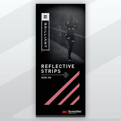 Picture of Iron-On Reflective Tape - Red